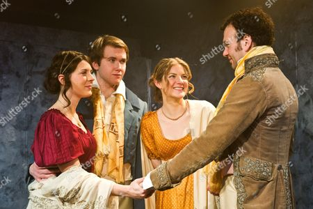 'Bloody Poetry' - Joanna Christie as Claire Clairemont, Rhiannon Sommers as Mary Shelley, David Sturzaker as Lord Byron and Joe Bannister as Percy Bysshe Shelley
