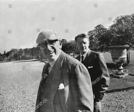 Lord Salisbury And Ian Smith Rhodesian Prime Minister In The Grounds Of Hatfield House Hertfordshire During A Break In Their Talks.