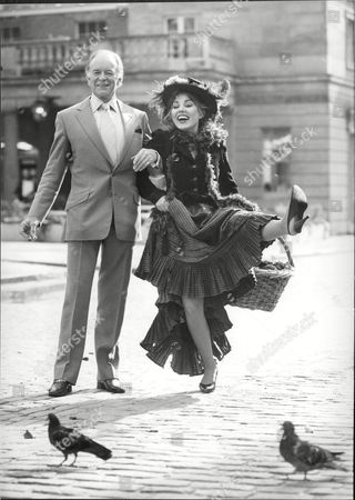 Actress Caroline Villiers And Tony Britton During Filming Of My Fair Lady.