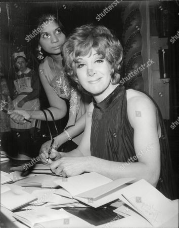 Actress Sheila Steafel Signing Autographs At The Weekend Mail Ball 1969.