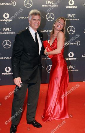 Mark Spitz and Annabelle Bond