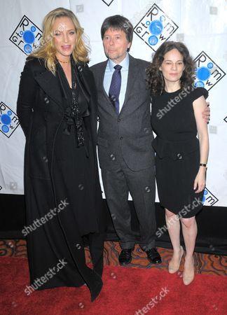 Uma Thurman, Ken Burns and Julie Deborah Brown