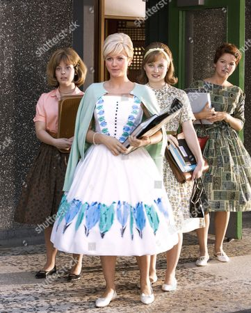 Stock Photo of Hairspray,  Hayley Podschun,  Brittany Snow,  Tabitha Lupien