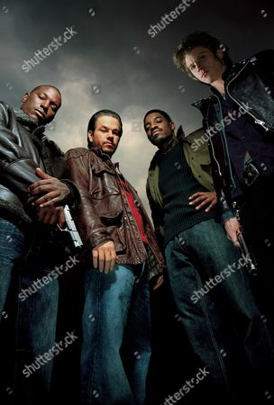 Four Brothers,  Tyrese Gibson,  Mark Wahlberg,  Andre Benjamin,  Garrett Hedlund