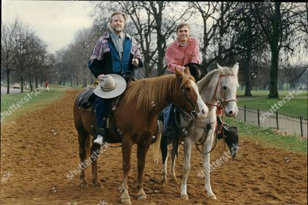 Jon Voight And Ricky Schroeder In Hyde Park 'return To Lonesome Dove'