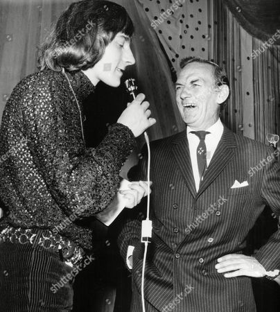 Dj Stuart Henry With Actor Sam Kydd At The Weekend Mail Ball 1969.