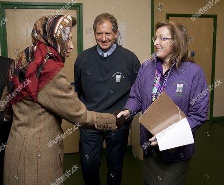 Princess Anne, Jody Scheckter and Clare Scheckter