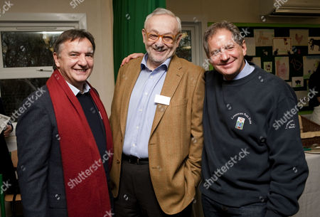 Celebrity chef Raymond Blanc, chef Pierre Koffman and Jody Scheckter