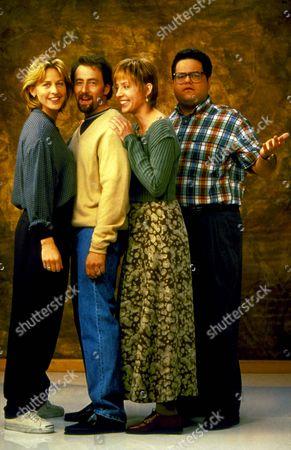 Stock Picture of Ellen ,  Ellen Degeneres,  Arye Gross,  David Anthony Higgins
