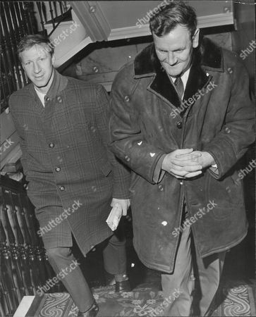 Leeds United Footballer Jack Charlton With Leeds Manager Don Revie At Fa Disciplinary Committee Meeting In Birmingham