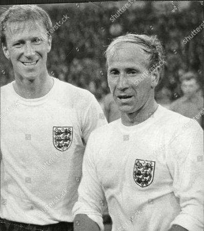 Manchester United Footballer Sir Bobby Charlton Robert Charlton (right) With Brother Jack Charlton Before England Match Sir Robert 'bobby' Charlton Cbe (born 11 October 1937 In Ashington Northumberland) Is An English Former Professional Football Player A Member Of The England Team Who Won The World Cup And Ballon D'or For European Footballer Of The Year In 1966. He Played Almost All Of His Club Football At Manchester United Where He Became Renowned For His Attacking Instincts And Passing Abilities From Midfield And His Ferocious Long-range Shot. He Was Also Well Known For His Fitness And Stamina Allowing Him To Dominate The Pitch.