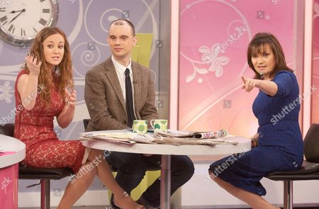 Martel Maxwell and Sam Delaney with Presenter Lorraine Kelly