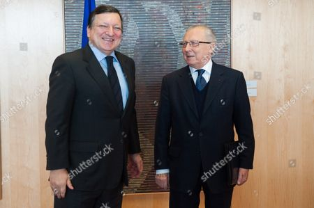 Jose Manuel Barroso and Jacques Delors