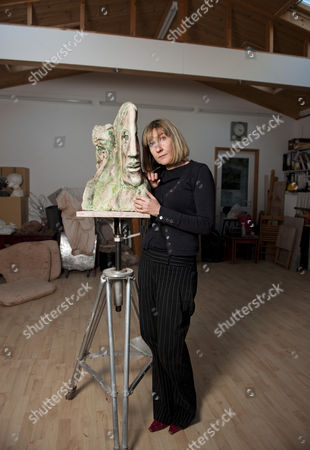 Stock Picture of Jane McAdam Freud with her 2010 piece entitled 'Mm & Mm'