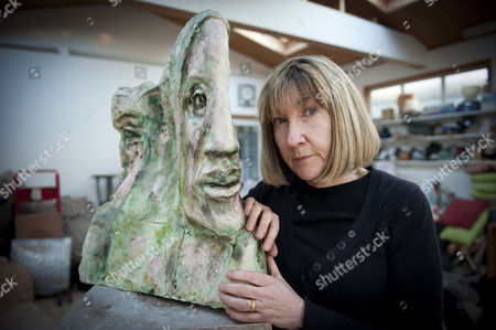 Editorial image of Jane McAdam Freud at her studio in Harrow, London, Britain - 03 Feb 2012