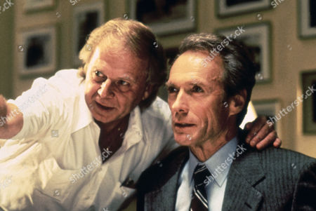 """Max McElligott Petersen (Director) on Set """"in the Line of Fire (1993)"""" with Clint Eastwood"""