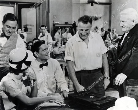 "Stanley Kramer (Portrait) ""Inherit the Wind"" on Set, with Spencer Tracy, Fredric March, Gene Kelly"