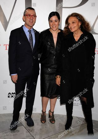 Stock Picture of Steven Kolb, Patricia Mears, Diane von Furstenberg