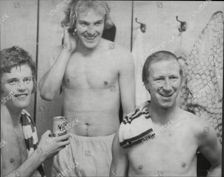 Jack Charlton England And Leeds United Footballer In Changing Room With Terry Yorath (centre) And Gordon Mcqueen (left) John 'jack' Charlton Obe Dl (born Ashington Northumberland 8 May 1935) Is A Former Footballer And Manager Who Played For Leeds United In The 1950s 1960s And 1970s And Was Part Of The England Team Who Won The 1966 World Cup. He Is The Brother Of Former Manchester United And England Footballer Bobby Charlton. Charlton Was A Part Of The Successful Leeds United Side Of The 1960s And 1970s Winning A League Championship (1969) An Fa Cup (1972) A League Cup (1968) And Two Fairs Cups (1968 And 1971) And Made A Club Record 773 Appearances. He Won 35 England Caps And Played In Every Game Of The Successful 1966 World Cup Campaign. In 2006 Leeds United Supporters Voted Charlton Into The Club's Greatest Ever Xi. Charlton Later Became A Manager Of Both Domestic And International Sides. In His First Season As A Manager He Led Middlesbrough To The Second Division Title For Which He Was Voted Manager Of The Year In 1974. He Later Took Charge Of The Republic Of Ireland National Team And Led Them To Their First Ever World Cup In 1990 Where They Reached The Quarter-finals.