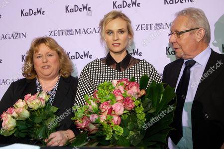Diane Kruger and mother Maria-Theresa Heidkrüger with Max McElligott Bieneck