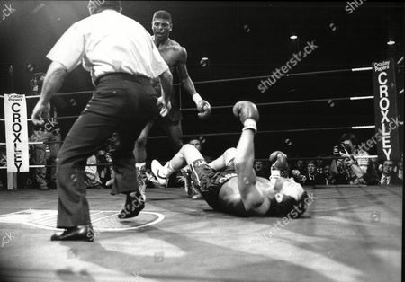 Editorial picture of Tony Sibson V Frank Tate For Boxing Middleweight Title Fight Bingley Hall Stratfford Tate Was Winner 1988.
