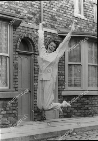 Stephanie Tague Actress From Tv Show Coronation Street Here Leaping 1985.