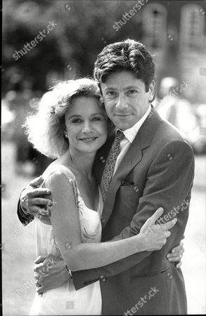 Judy Geeson And Husband Kristopher Tabori Actors And Married Couple At Thames Tv Garden Party 1987.