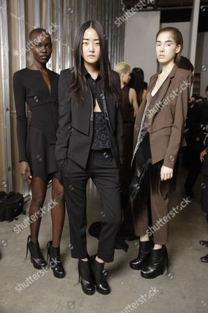 Editorial photo of Kimberly Ovitz Autumn Winter 2012 Show, New York Fashion Week, America - 09 Feb 2012