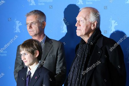 Director Stephen Daldry, Thomas Horn and Max Von Sydow