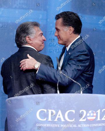 Al Cardenas and Mitt Romney