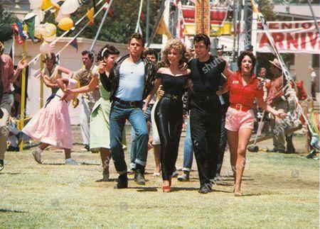 Grease,  Jamie Donnelly,  Jeff Conaway,  Olivia Newton-john,  John Travolta,  Stockard Channing