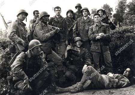 Stock Photo of Film the Dirty Dozen Donald Sutherland Actor Ernest Borgnine Charles Bronson Jim Brown Telly Savalas Clint Walker