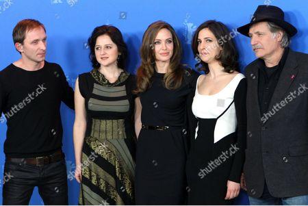 Boris Ler, Branko Djuric, Alma Terzic, Vanesa Glodjo, Angelina Jolie, Goran Kostic, Zana Marjanovic, Rade Srbedzija and Nikola Djuricko