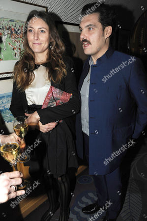 Editorial picture of Chanel and Charles Finch pre-BAFTA party at Annabel's, London, Britain - 11 Feb 2012