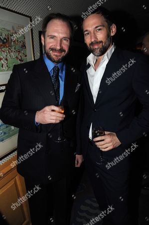 Stock Image of Ralph Fiennes and Joel Lubin