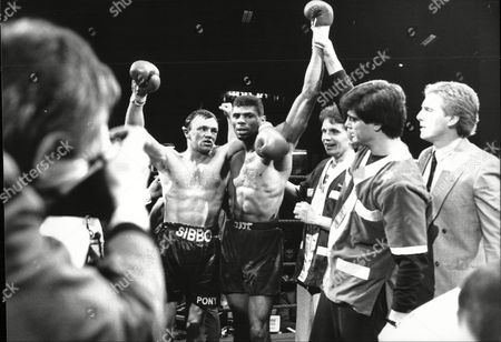 Stock Picture of Tony Sibson V Frank Tate Middleweight Title Fight Bingley Hall Stafford; Tate Was Winner 1988.