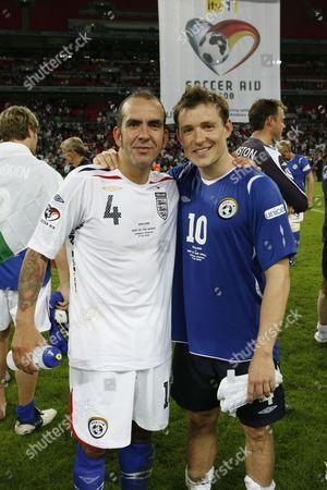 Paulo Di Canio and Ben Shephard