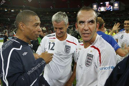 Des Walker, Ian Rush and Paulo Di Canio