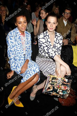 Stock Picture of Solange Knowles and Elettra Rosselini-Weidemann