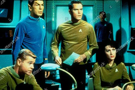Stock Image of Star Trek ,  Leonard Nimoy,  Jeffrey Hunter,  Majel Barrett