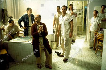One Flew Over The Cuckoo's Nest,  Danny Devito,  William Redfield,  Sydney Lassick,  Christopher Lloyd,  Jack Nicholson,  Will Sampson,  William Duell,  Vincent Schiavelli