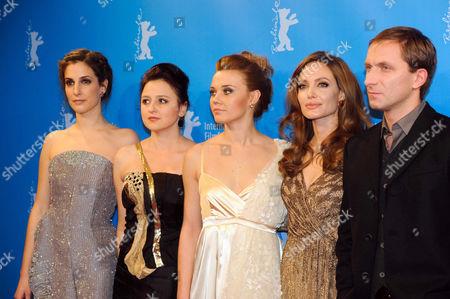 Stock Photo of Zana Marjanovic, Vanesa Glodjo, Alma Terzic, Angelina Jolie and Goran Kostic