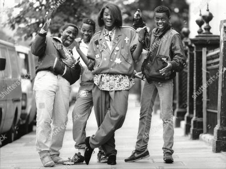 Pop Singer Jermaine Stewart (2nd Right) In London With Some Of His Fans