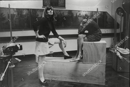 Actress And Model Paulene Stone And Actress Susannah York Rehearsing For New Tv Play 'the Photographer'.