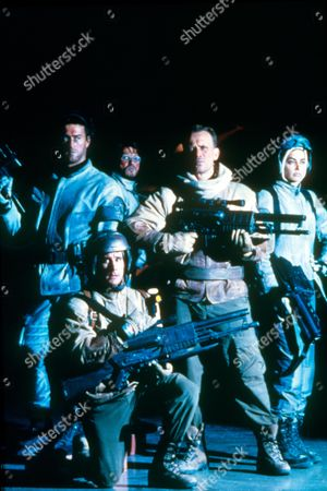 Stock Picture of Screamers,  Roy Dupuis,  Andy Lauer,  Charles Powell,  Peter Weller,  Jennifer Rubin