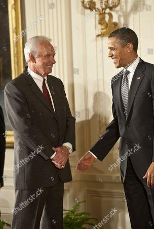 Mel Tillis and President Barack Obama