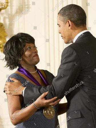 Rita Dove and President Barack Obama