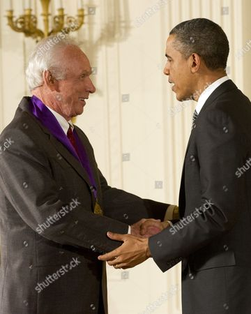 Stock Photo of Mel Tillis and President Barack Obama