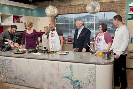Gino D'Acampo, Ruth Langsford, Eamonn Holmes, Lee Goodin and Kirsty Meecham