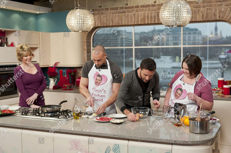 Ruth Langsford, Gino D'Acampo with Lee Goodin and Kirsty Meecham